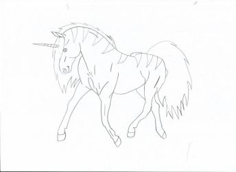 Unicorn lineart by HowrseGraphic