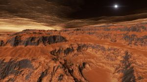 Aerial view above scorched sub-earth #3 by nirklars