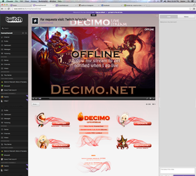 Twitch Channel Layout for Decimo by ciael