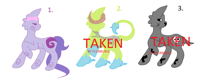 Adoptables by NonsenceKitty14