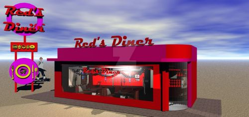 Red's Diner (download building and sign)