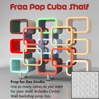 Free Pop Cube Shelf Prop by Poses17