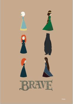 Minimalist poster Brave by CryingDaisy