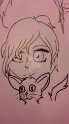 Main Char And Cat Thing by HeartLessWolfGirl