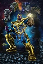 Thanos and the Black Order_Colored by debuhista