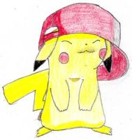 Pikachu with Cappy by SunshineMew
