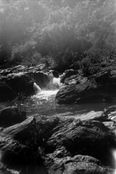 Waterfall black and white by Hheithor