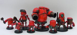 Rusty Robots Red Tribe Group Shot by SpaceCowSmith