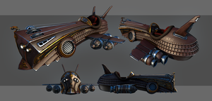 Spirit - Steampunk Flightcraft by Nosslak