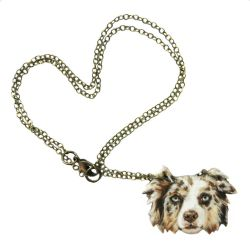 Pet Portrait Necklace by KawaiiCulture