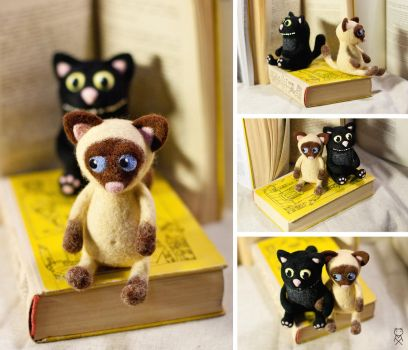 Two cats for Olya by Mimiori