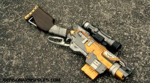 Custom Borderlands Themed Nerf Slingfire by JohnsonArmsProps