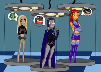 Teen Titans and the swap something whatever by TheWalrusclown