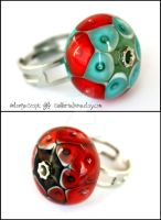 Harlequin and Fire ring by Faeriedivine