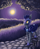 Batpone in the moonlight by Wolframclaws