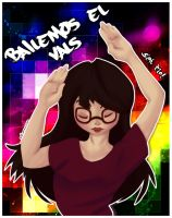 Just my friend dancing :P by Silver-Lunne