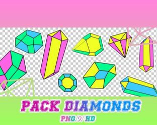 pack diamonds png by theoskater11