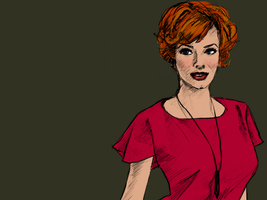 Joan Holloway (Christina Hendricks), Mad Men by stevenf