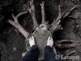 Me, the tree... by Lenupet