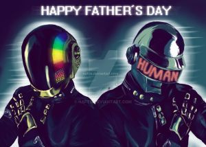 Daft Punk- Happy Father's Day by naftie
