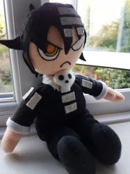 Death The Kid Plushie by BitchinCupcake