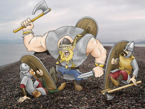 Viking vs. Saxon Huscarls by Felipenn