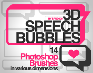 3D Speech Bubble Brushes by spud100