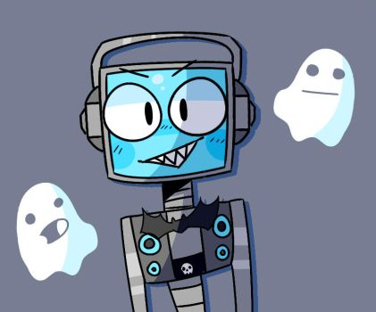 fandroid the bOOISCAL ROBOT- by CrazygamergirlYT