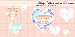 Cute Bears And Hearts Patterns By Brenda by Coby17