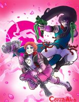 Ren and Nora Flower Power by Corazon-Alro4