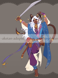 DnD - Tiefling Bladedancer Auction [CLOSED] by aketan-adopts
