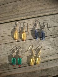 Earrings in the Sun by AmythestCatCreations