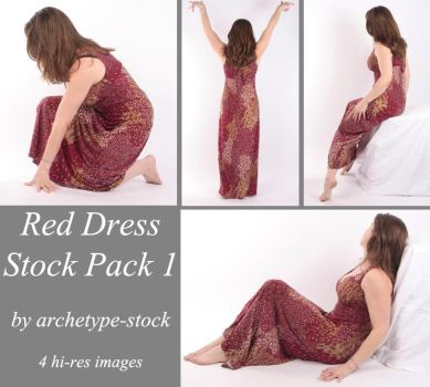 Red Dress Stock Pack 1 by archetype-stock