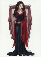 Arwen in Blood Red by TinyQ