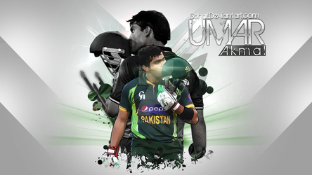 Umar Akmal-wallpaper by iSOHAIL