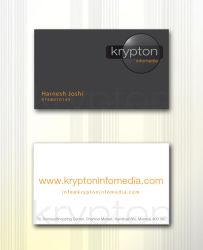 KryptonInfomedia Business Card by Javagreeen