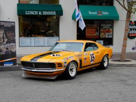 ORANGE 1970 Boss 302 Mustang by Partywave