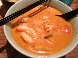 Thai Red Seafood Curry by nosugarjustanger
