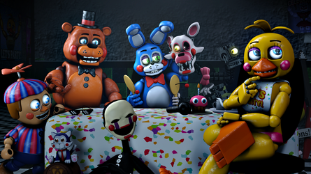 During the Toy Animatronics' free time by TalonDang