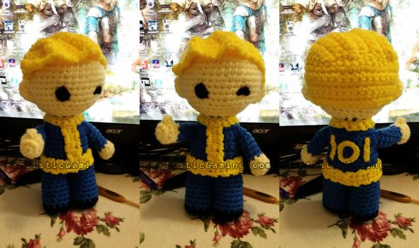 Vault Boy - Free Crochet Pattern - Fallout by GamerKirei