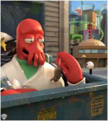 Out To Eat With Zoidberg by vikung-fu