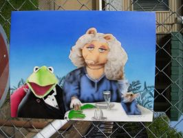 Miss Piggy + Kermit The Frog. by Shannon-Gaspich-1981