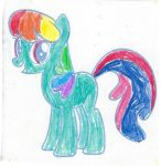 Knock-off Rainbow Dash (colored in) by dth1971