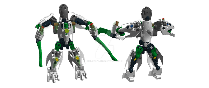 BIONICLE  Mini Toa Lewa by E-Matt