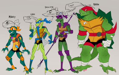 [TMNT] - stylized turts by Sylthian