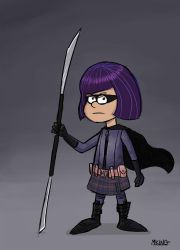 Hit Girl, Gravity Falls-style by mking2008