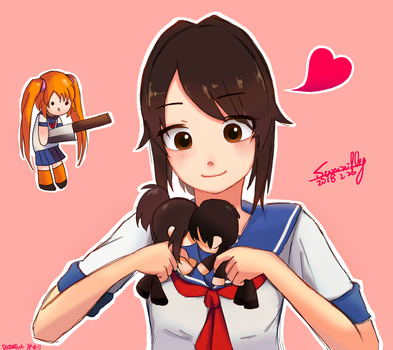Yandere Chan and Senpai doll by summilly