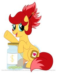Rosa Blossomheart with Donation Jar by krystlekmy