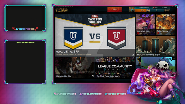 League of Legends Overlay: Miss Fortune Lobby by MirajaneTV