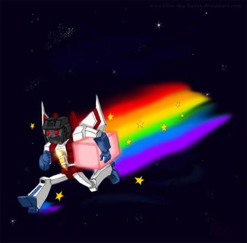 NYAN-STARSCREAM by Flive-aka-Nailan
